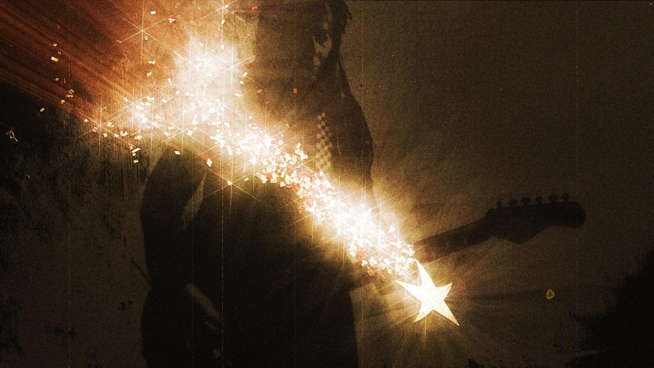 Et snapshot fra musikvideoen til Shooting Star